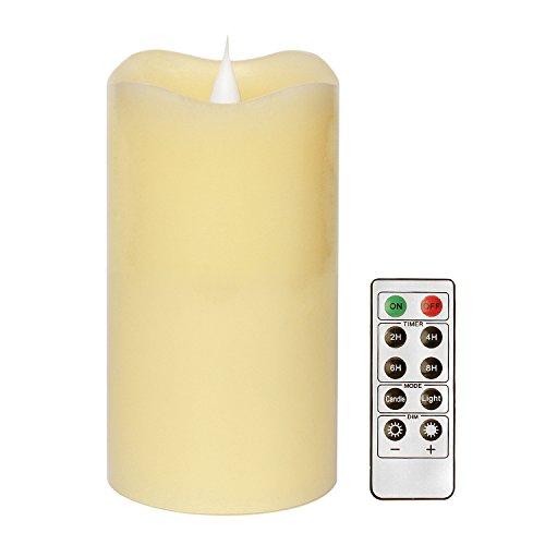 3d vela con Romote Control y temporizador, cera, beige, 3x5 Inches