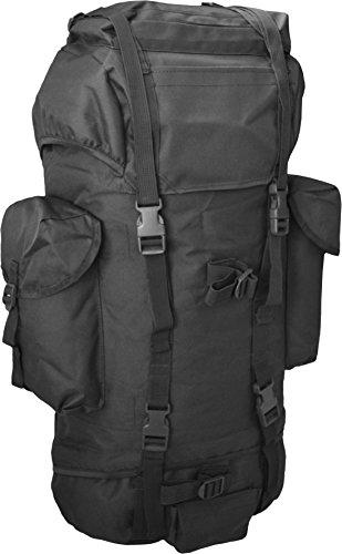 Rucksack, ideal zum Wandern, großes Fassungsvermögen 65 Liter, viele Taschen Schwarz
