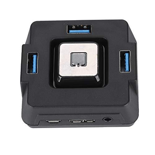 Eboxer Multifunktionaler USB3.0-Desktop-PC-Schalter Power Reset-Taste Audio-Mikrofonanschluss für Das Hotel -