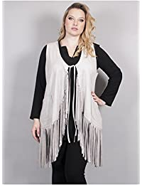 Edmond Boublil - Vêtement Femme Grande Taille Gilet Long Frange