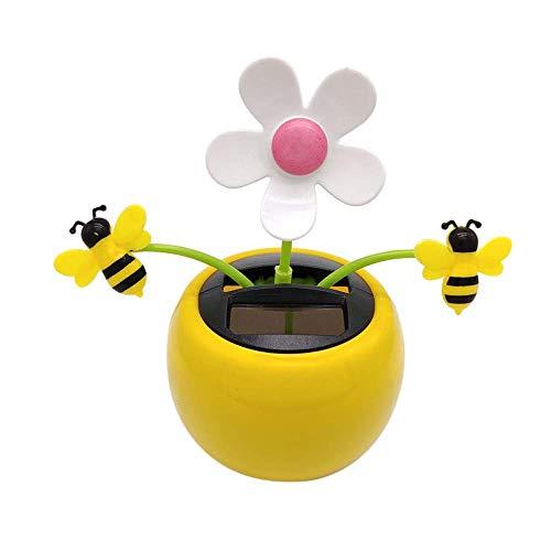 Carry stone Premium Qualität Solar Tanzen Blume, Solarbetriebene Tanzen Spielzeug Solarbetriebene Tanzen Blume Schwingen Animierte Tänzer Spielzeugauto Dekoration D (Solar Tanzen Spielzeug)