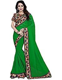 Sarees(DIYA Fashion New Disigner Georgette Party Wear Saree With Blouse Piece , Bollywood Designer Saree, Latest... - B073XMGGYR