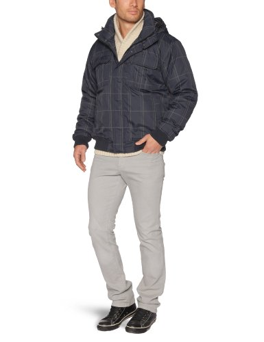 Quiksilver Tornea print-kpmjk142Jacke mit Reißverschluss Taschen Herren Blau - Navy Check