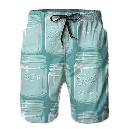 OPoplizg Boys Board Shorts Mason Jars Quick Dry Swim Surf Trunks,XL