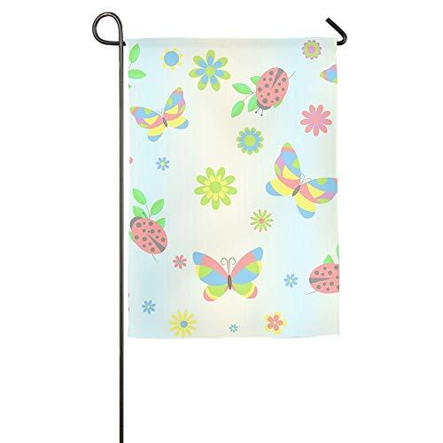 HujuTM Butterfly and Ladybird Home Garden Indoor/Outdoor Flags 18\