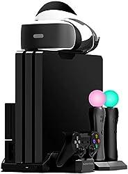 Kootek Ladeständer mit Kühlventilator für Playstation VR Motion-Controller, passend für PS4 Slim/PRO/Regular P