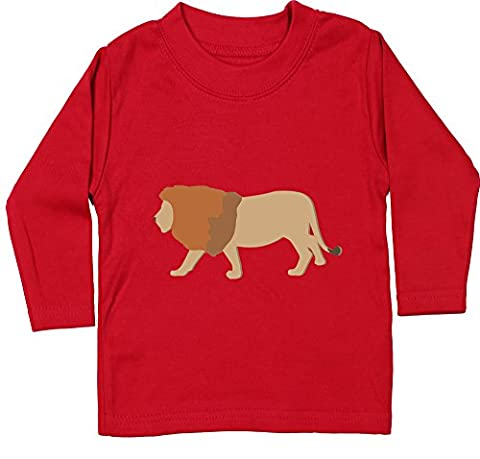 Hippowarehouse Lion baby unisex t-shirt long sleeve