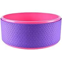 JINHONGH Rueda de Yoga para Principiantes en la Parte Posterior de la Silla Asistir a la Rueda de Yoga Rueda de Yoga Pilates para el Gimnasio en casa (Color : Purple)