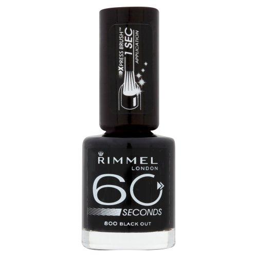 Vernis à ongles Rimmel 60 Seconds, black out