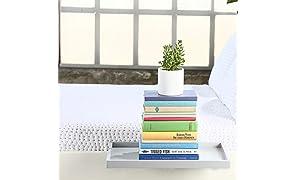 BedShelfie Plus The Original - Estante para mesilla de Noche (3 Colores) - 2 tamaños - como se ve en el Negocio (Tallas Grandes, Gris)