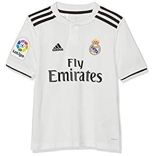 adidas Children's 18/19 Real Madrid Home - Lfp Shirt, core White/Black, 128