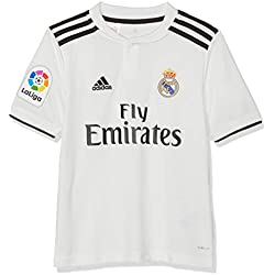 adidas 18/19 Real Madrid Home-Lfp Camiseta, Niños, Multicolor (blabas/Negro), 152