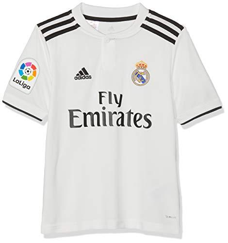adidas Kinder 18/19 Real Madrid Home - Lfp Trikot, core White/Black, 128 (Kinder Adidas Real Madrid Trikot)