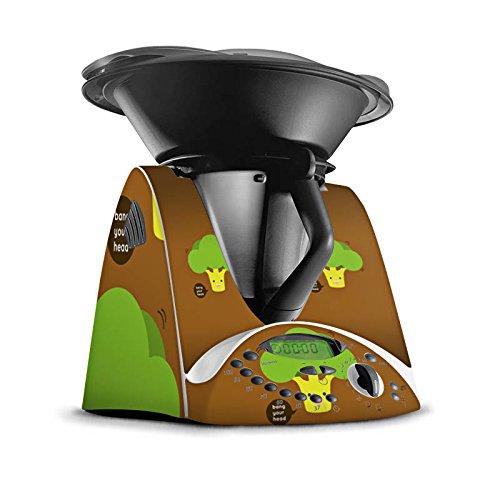 Vorwerk Thermomix TM31 Folie Skin Sticker aus Vinyl-Folie Aufkleber Brokkoli Gemüse Smiley