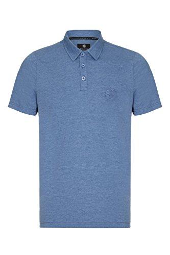 Barror London Herren Poloshirt Dusty Blau Marl