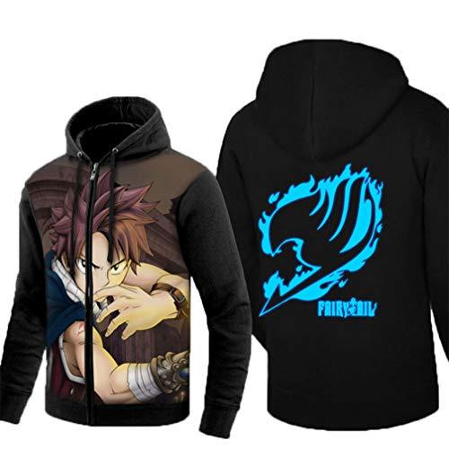 (Cosstars Fairy Tail Anime Kapuzenpullover Hoodie Sweatshirt Unisex Cosplay Leuchtend Pulli Jacke 1 XXXL)