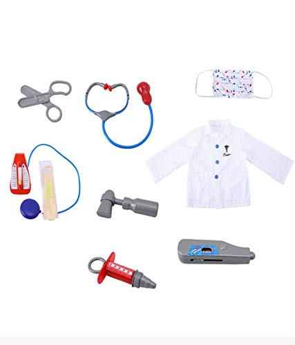Chirurg Arzt Kostüm - Vaycally  Kinder Arzt Dress Up Chirurg Kostüm Rollenspiel Set mit Zubehör Pretend Play Doctor Kit Kinder Arzt Dress Up Kit aus Nylon