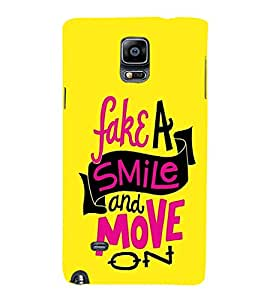 EPICCASE Fake Smile Mobile Back Case Cover For Samsung Galaxy Note 4 (Designer Case)