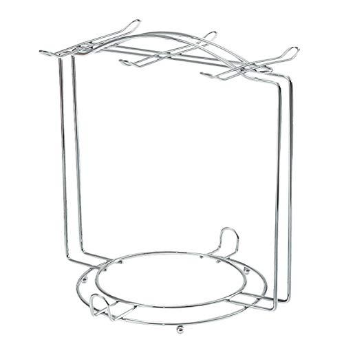 BESTONZON Tassenhalter Edelstahl Espresso Set Rack Display Stand Tee Tasse Becher Organizer Abtropfgestell 6 Kaffeetasse Untertasse Löffel (Silber) -