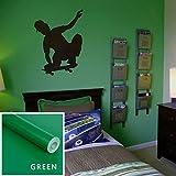 Amphia - Kind Farbe Glänzende Möbel Refurbished Aufkleber PVC Removable Wallpaper Home Deco - Selbstklebender Lackaufkleber -Pink,Schwarz,Rot,Gelb,Grau,Orange,Blau,Grün/ 60 * 40CM