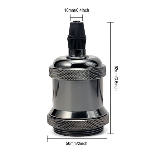 Retro Edison E27 Sockel Fassung Lampenfassung Halter Lampensockel Lampenfuß OF