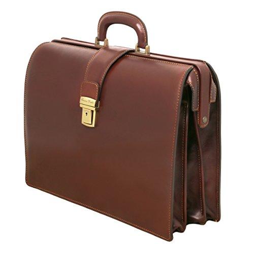 Tuscany Leather - Canova - Grosse Aktentasche im Doktorstyle aus Leder - TL141347/5 Braun
