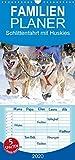 Schlittenfahrt mit Huskies - Familienplaner hoch (Wandkalender 2020 , 21 cm x 45 cm, hoch): Hunde-Schlittenfahrt: Rasantes Schneetreiben (Monatskalender, 14 Seiten ) (CALVENDO Orte)