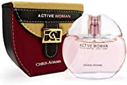 Chris Adams Perfumes Active Woman Pour Femme Eau De Perfume For Women, 80 ml
