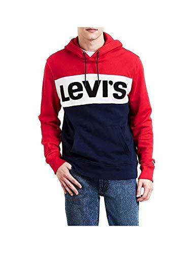 Levi's ® Colorblock Sudadera capucha red/marshmallow/blue