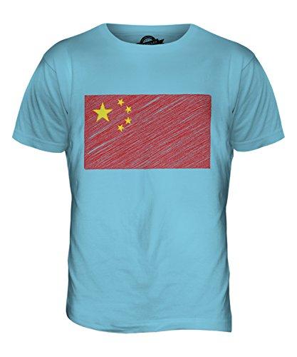 CandyMix Volksrepublik China Kritzelte Flagge Herren T Shirt Himmelblau