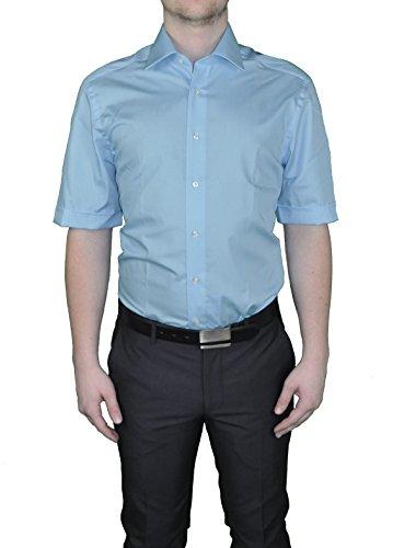 Bügelfreies chemise à manches courtes pour homme dans différents coloris, finition :  corps cUT marque rEDMOND (150910) Bleu - Blau(10)