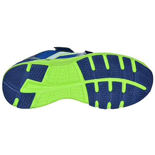 Pro Touch Run-Schuh Oz Pro V Klett Jr - d.blau/grün lime Blau