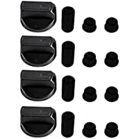 Baumatic Universal Black Control Knobs for Ovens, Cookers and Hobs (Pack of 4)