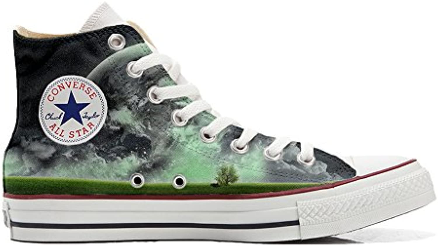 Converse All Star Customized - Zapatos Personalizados (Producto Artesano) con el Mundo  -