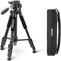 ZOMEI®Q111 Trépied professionnel pour appareil photo et camera avec un sac de transport. Compatible Canon, Nikon et Sony. (noir)