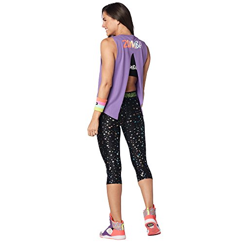 Zumba Damen Women's Sexy Open Back Breathable Workout Tank Top, Lady Lavender, X-Large - Deportiva Ropa De Dama
