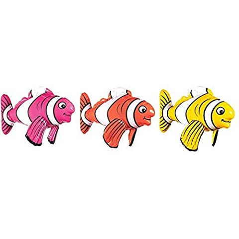 Amscan 391728 43 cm Inflatable Striped Fish Toy by Amscan
