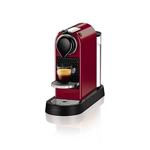41ORjzbxbqL. SS500  - Nespresso XN740540 Nespresso Citiz Coffee Machine, 1260 W, Cherry Red by Krups