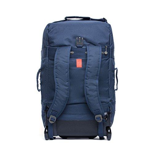 Imagen de eco maleta plegable con ruedas convertible a  hecha de material reciclado rpet azul oscuro  alternativa