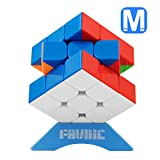 FAVNIC Speed Cube, Magnetic Magic Cube 3X3 Rompecabezas sin Etiqueta...