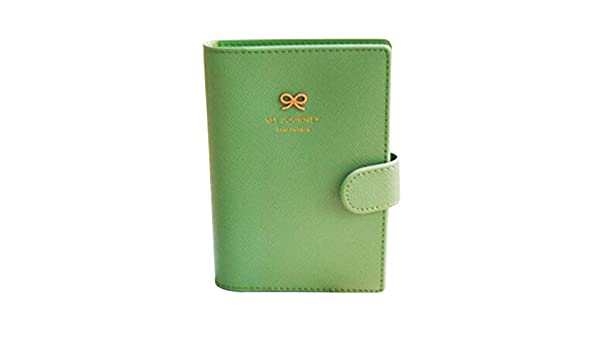 Pink Wrisky Travel Fashion Bowknot Passport Card Protector Cover PU Leather Holder Wallet