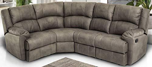 Dafnedesign.com - divano angolare 5 posti - similpelle - recliner manuale - misure: cm. 195 x 248 x 94h (std)