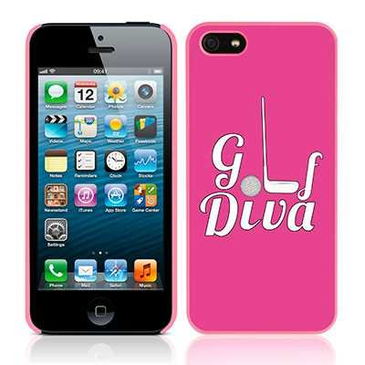 Call Candy Apple iPhone 5S / 5 Golf Collection Golf Diva Rosa Hülle/Abdeckung by