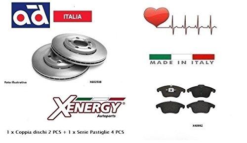 Dischi + Pastiglie Freno Anteriori Xenergy