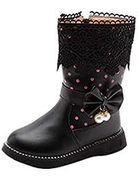 Mädchen Stiefeletten Stiefel Boots mit Schnallen schwarz Gr 25-30 C-07