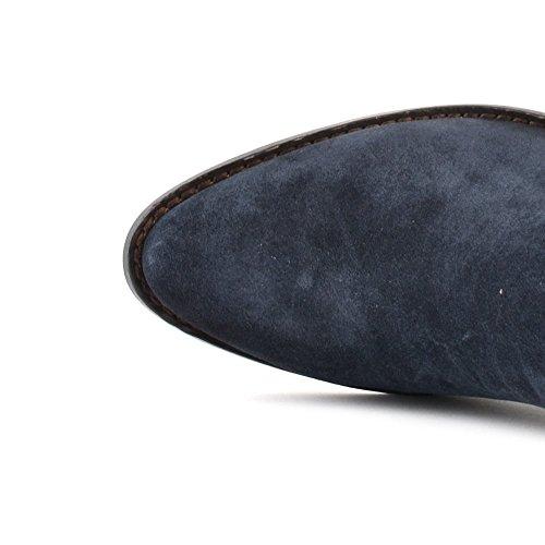 Ash Chaussures Ivana Boots a Talon Bleu Femme Midnight Bleu
