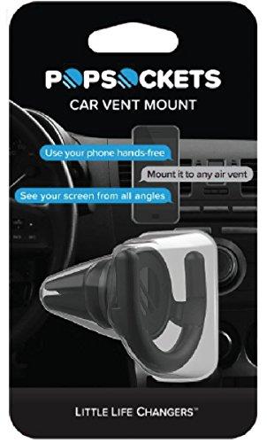 Popsockets Offizielle Car Vent Mount Auto Lüftung Halterung für Smartphones und Tablets - Schwarz