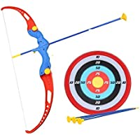 Diva Enterprise Kids Archery Bow and Arrow Toy Set with Target Outdoor Garden Fun Game Bow & 3 Cup Suction Arrows Target