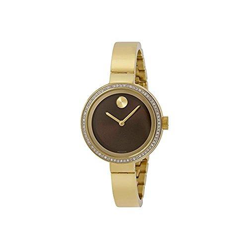 MOVADO WOMEN'S GOLD TONE STEEL BRACELET & CASE SWISS QUARTZ WATCH 3600282