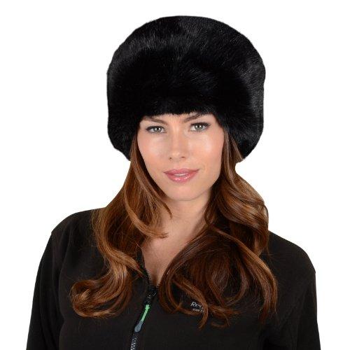 Womens Stylish Faux Fur Russian Cossack Hat Winter Fashion Warm Super